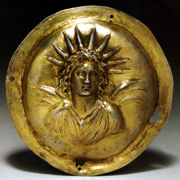 A golden image of Helios