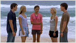 (from the left) Ash Dove, Emma Gilbert, Cleo Setori, Rikki Chadwick, and Zane Bennett (episode 2x18 the heat is on)