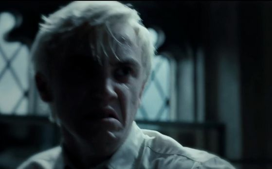 Sectumsempra is definitely in! It is clearly seen that Malfoy shoots a hex at...