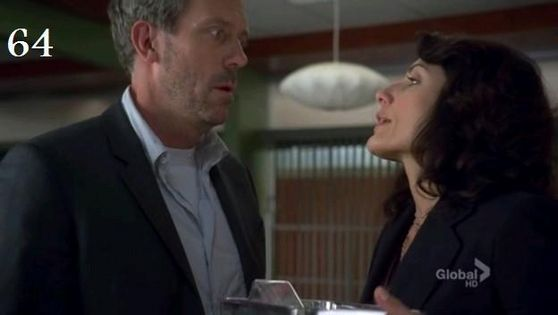 64. This is a funny huddy moment where he has stolen mice from the hospital and she comes there to take them back.