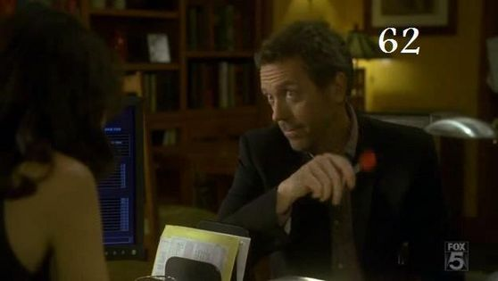 62. This is a great huddy moment where house gives cuddy a performance review of cuddy and her life it's just a great way house shows how he feels about cuddy.