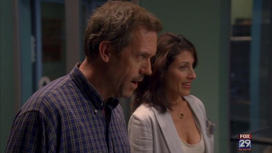 "52. I 爱情 this huddy scene where they are trying to determine who is in charge of their relationship, and when house wins it's just great ""she has the hot's for me she always has """