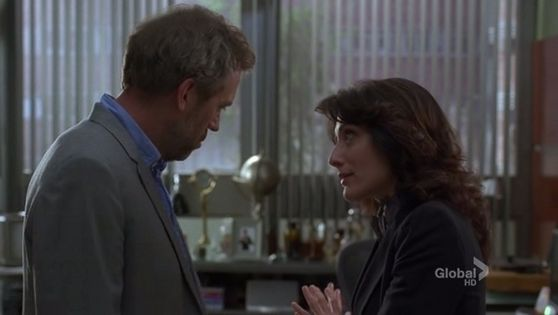 "42. This scene is great because you see that's house actually wants to be with cuddy and is happy to see her ""good morning sunshine"""