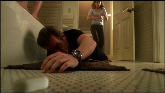 "15.I love this scene house no's house as a drug addict dosent deserve cuddy he loves her that much "" if u take those pills u dont deserve her"""