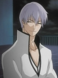 джин wearing Arrancar clothing (he looks good in that outfit lol!)