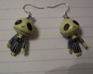 Totally cute Skeleton Jack Earrings by Scumrags