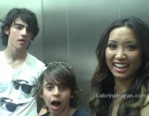 Joe Jonas & Brenda Song at disney World