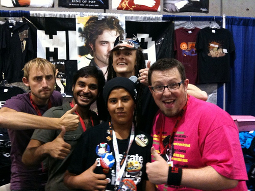 My little Brother with the Mega64 cast at Comic Con 2009 (Lucky) He A Big FAn Too!!!