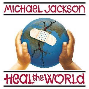 The Heal The World Foundation's logo was based on this single cover of its namesake song.