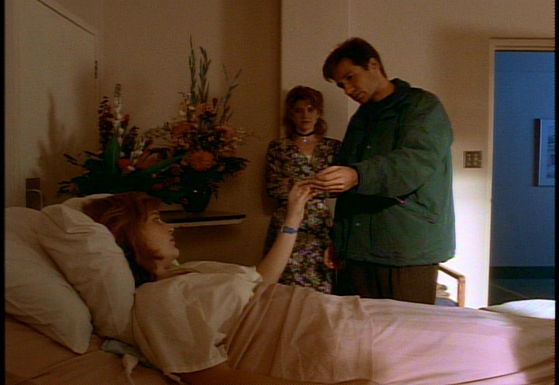 Season Two One Breath # ~ Mulder Gives Scully Her Cross Back