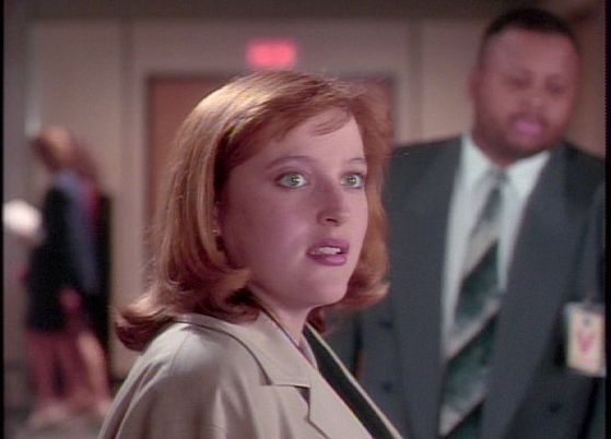 Season Two Little Green Men # ~ Scully Tries To Say Hi To Mulder But Her Ignores Her She Seems Upset :(