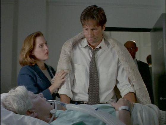 Season Four Herrenvolk # ~ Scully Puts A Blanket Around Mulder