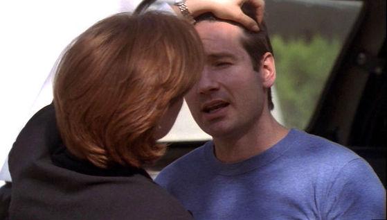 Season Six The Rain King # ~ Scully Touches Mulders Hair