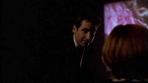 Season Seven Hollywood AD # ~ Mulder : Thats It Scully I Cant Take It Anymore - Scully : Shhhh!!! Mulder Sit Down