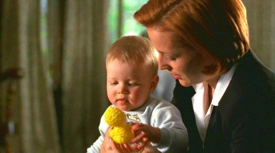 Season Seven Requiem # ~ Mulder Watches Scully With A Baby
