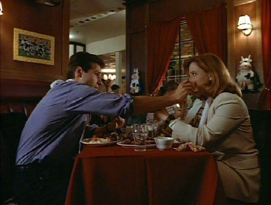 Season Two Red Museum # ~ Mulder Wipes Food Off Scullys Face