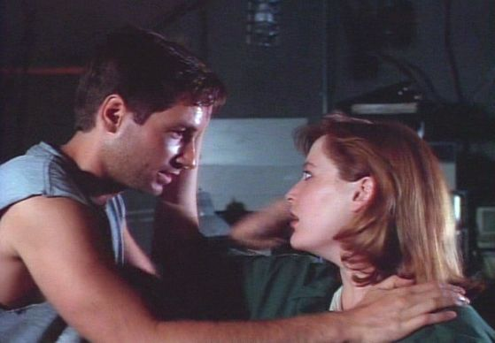 Season Two Little Green Men # ~ Scully Touches Mulders Face