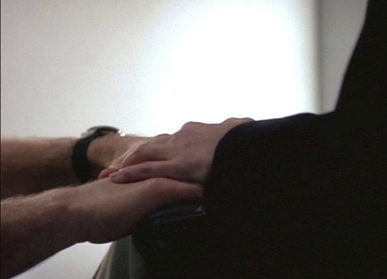 Season Three Pusher # ~ Scully Touches Mulders Hand
