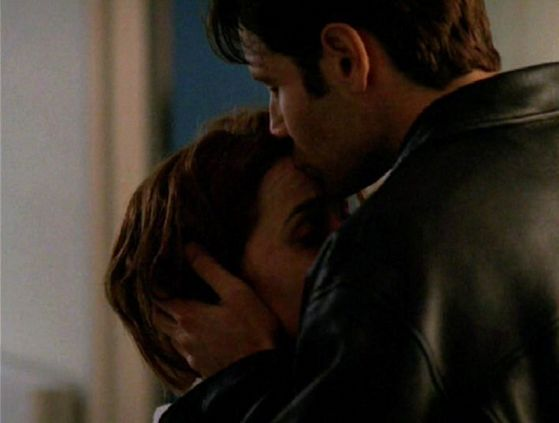 Season Four Memento Mori # ~ Mulder Kisses Scullys Forehead