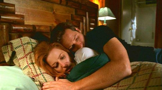Season Seven Requiem # ~ Mulder & Scully Hug In Bed He Strokes Her Face And Kisses Her Cheek