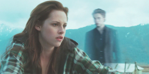 BELLA SEES EDWARD'S IMAGE WHILE RIDING HER MOTORCYCLE