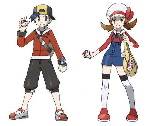 The new Male and Female Character Designs