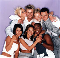 S Club 7 back in 2001