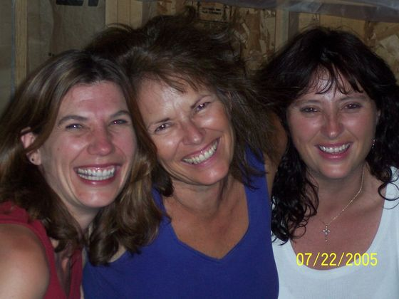 Donna, Suz and Jen laughing hysterically, as usual