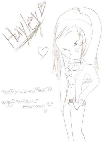 An uncoloured Hayley sketch :3