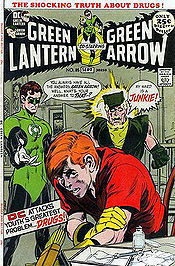 "The cover to the best selling Green Lantern issue starring Speedy, ""They Say it Will Kill Me But They Won't Say When."" or, ""Snowbirds Don't Fly."""