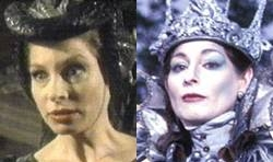 Barbara Kellerman as 'The Lady of Green Kirtle' and as 'The White Witch' from the  BBC TV series, 1989 – 1990.