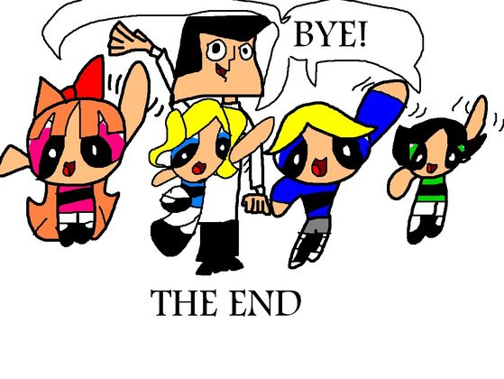 Everyone saying bye at the end of a great story. The End!