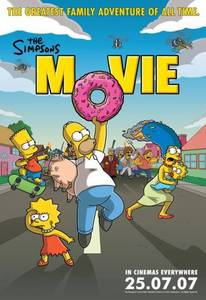 One of the many The Simpsons Movie posters.
