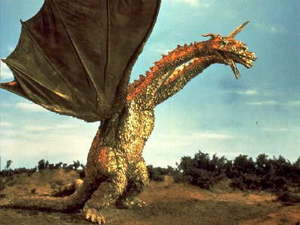 King Ghidorah's apperance is Популярное to all Godzilla fans.