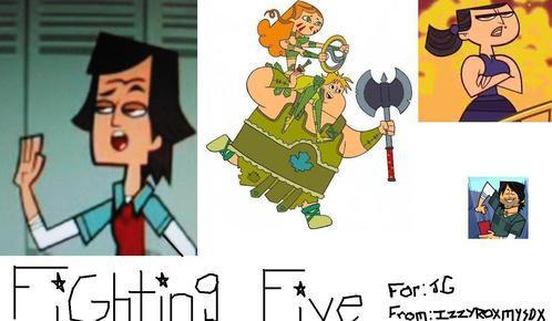 the fighting 5! (also made 由 izzzyroxmysox!)