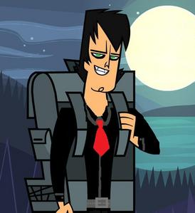 Trent as a vampire in this story