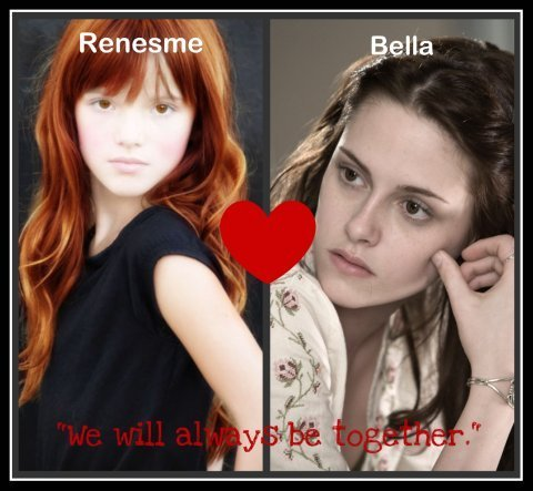 Renesme ( Taylor ) and Bella