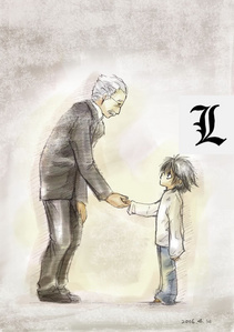 l Lawliet and Watari~!!!!!!! (L's age: 7)