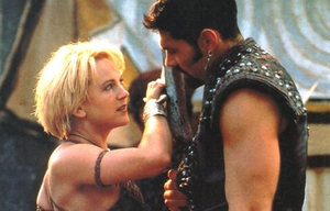Do te give up on Xena, No only te could do that.. Gabrielle & Ares in Seeds Of Faith