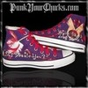 Twilight Converse Hi Tops feature Stephanie book covers Twilight, New Moon, Eclipse, Breaking Dawn punkyourchucks photo