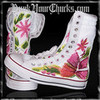 Emma Watson (Harry Potter) Extra High Flower Converse Sneakers punkyourchucks photo