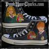 Harry Potter Converse Custom Sneakers High Top Chucks punkyourchucks photo