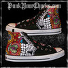 Mexican Day of the Dead Custom Painted Converse Chuck Taylor Sneakers punkyourchucks photo