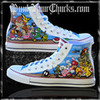 Nintendo Converse Sneakers - Custom Painted Chuck Taylor High Tops punkyourchucks photo