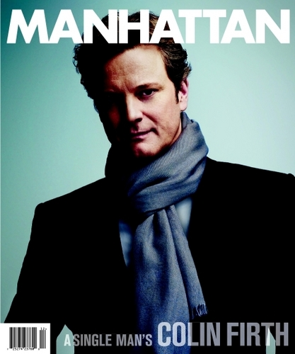 Colin Firth on cover of Manhattan magazine