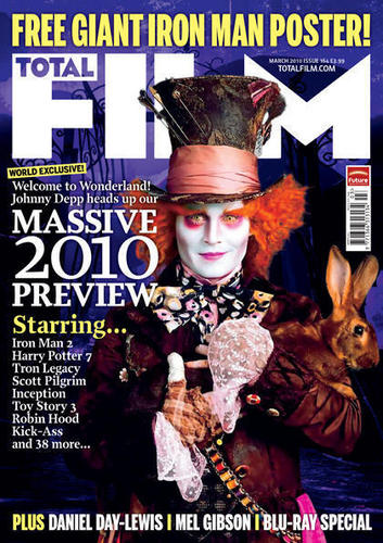 Mad Hatter total Film Movie Magazine Cover