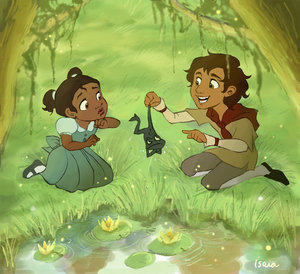 Princess Tiana and Naveen