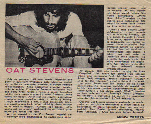 Young Cat Stevens in action