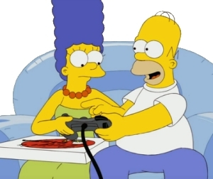 homer and marge foto