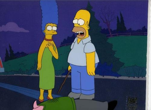 homer and marge चित्रो